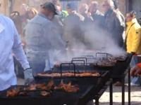 Fiesta de la matanza en Covarrubias en la provincia de Burgos